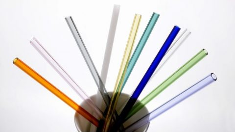 Glass Drinking Straws wholesale, Reusable Straight Glass Straws Multi Color